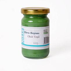 Resim Hisar Ebru Boyası 105 ml 502 Oksit Yeşil