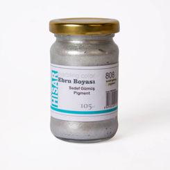 Resim Hisar Ebru Boyası 105 ml 808 Gümüş Pigment