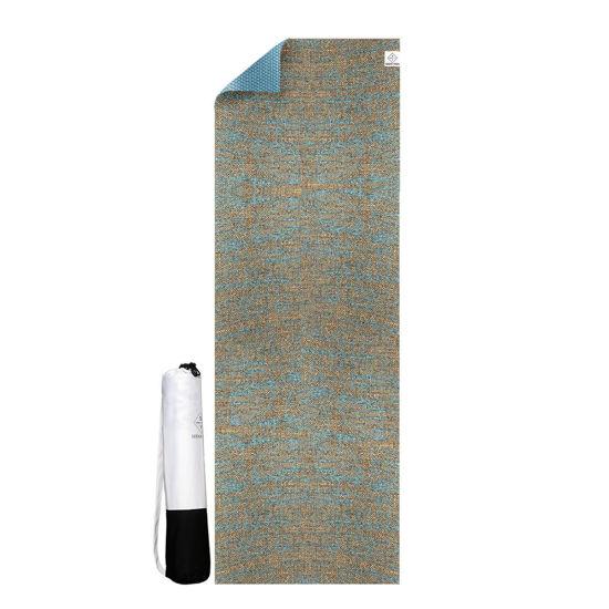 Seeka Yoga Jüt Yüzeyli Yoga Matı - Mavi. ürün görseli