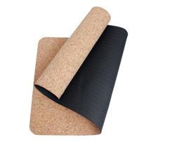 Resim Yogatime Mantar Yoga Mat 4 mm. - Siyah / Mantar