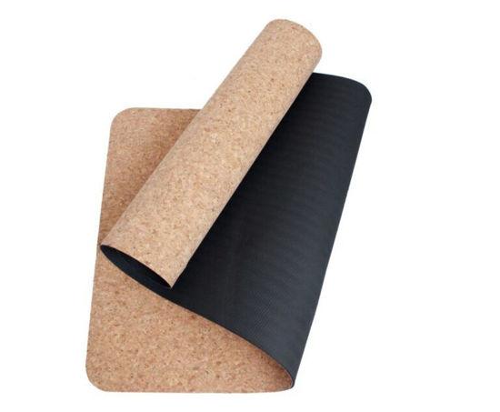 Yogatime Mantar Yoga Mat 4 mm. - Siyah / Mantar. ürün görseli