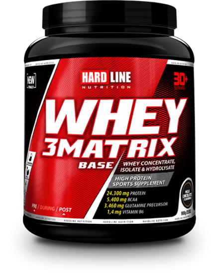 Hardline Whey 3 Matrix Base 908 Gr - Çikolata. ürün görseli