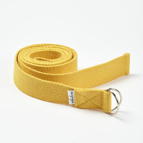 Nui Yoga Sarı -  Organik Pamuk Yoga Kayışı. ürün görseli