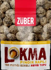Resim Züber Lokma Fındık Kaplı Meyve Topu 96 Gr.
