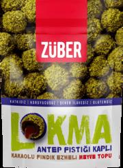 Resim Züber Lokma Antep Fıstığı Kaplı Meyve Topu 96 Gr.