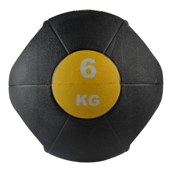 Valeo 6 Kg Tutacaklı Sağlık Topu -Sarı. ürün görseli