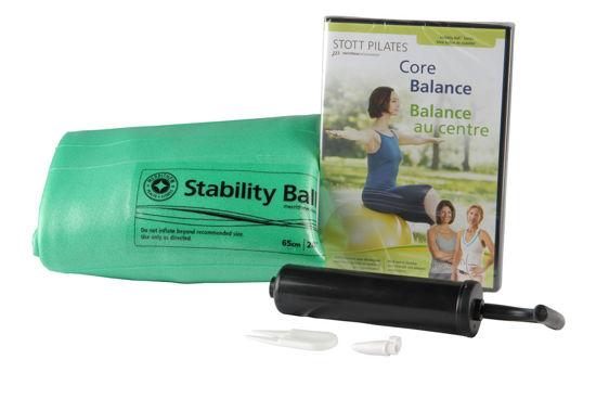 Merrithew Health & Fitness Stability Ball Plus Power Pack - 65cm (Green - English/French) (DV-82305). ürün görseli
