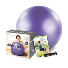 Resim Merrithew Health & Fitness Stability Ball 75CM Power pack with Pump (Purple) (GP-85120)
