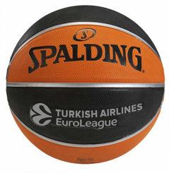 Resim Spalding TF-150 Basket Topu Turkish Airlines Euroleague Basketbol EURO/TURK Size:6