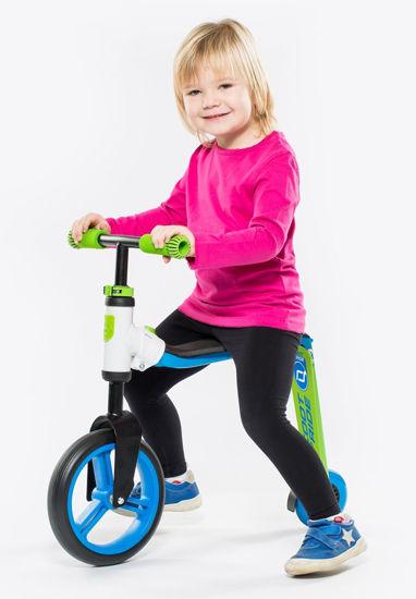 Scoot And Ride Mavi-Yeşil Renk Highwaybuddy Ayarlanabilir Scooter. ürün görseli
