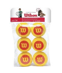 Resim Wilson Tenis Topu Starter Çocuklar İçin 6lı Sünger  (WRZ259300)