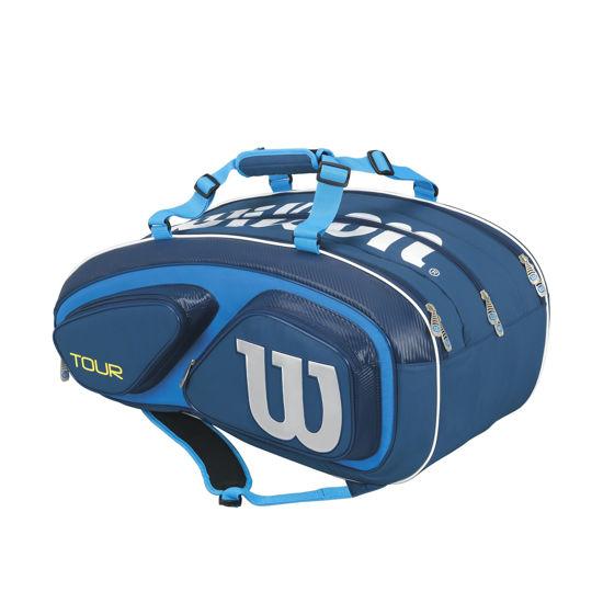 Wilson Tenis Çantası TOUR V 15 Mavi-Beyaz (WRZ843615). ürün görseli