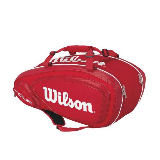 Wilson Tenis Çantası Tour V 9 Kırmızı-Beyaz (WRZ847609). ürün görseli
