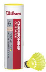 Resim Wilson 6'lı Sarı Badminton Topu Championship 78 ( WRT6044YE78 )