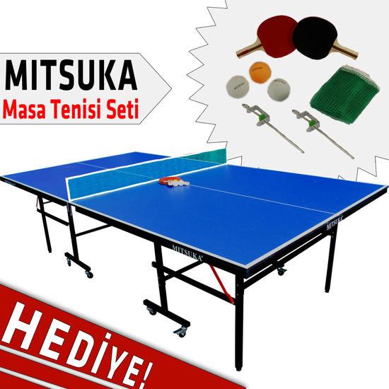 Mitsuka 501B Mavi Masa Tenis Masası - Mitsuka Masa Tenis Seti HEDİYE!. ürün görseli