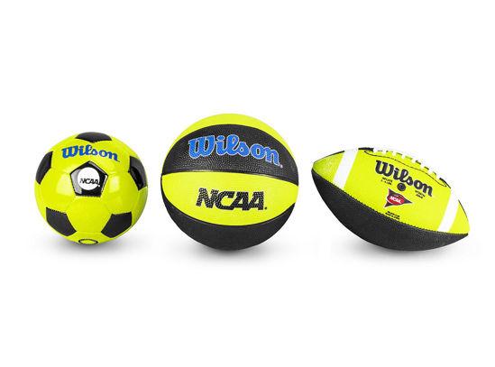 Wilson 3'lü Top Seti NCAA  Triple Threat Kit NGBL (WTX0754ID). ürün görseli