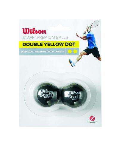 Wilson Squash Topu Staff  2  DBL YE DOT ( WRT617600 ). ürün görseli