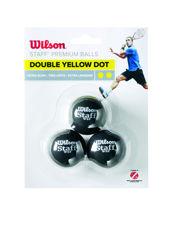 Resim Wilson Squash Topu Staff 3 DBL YEL DOT ( WRT618100 )
