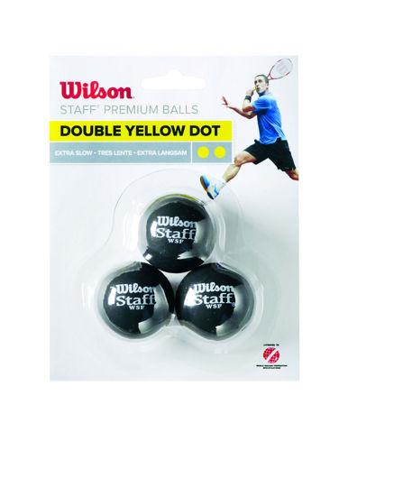 Wilson Squash Topu Staff 3 DBL YEL DOT ( WRT618100 ). ürün görseli