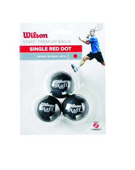 Wilson Squash Topu Staff 3 BALL RED DOT ( WRT618200 ). ürün görseli