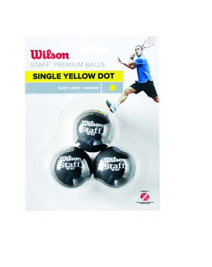 Wilson Squash Topu Staff 3 YEL DOT ( WRT618300 ). ürün görseli
