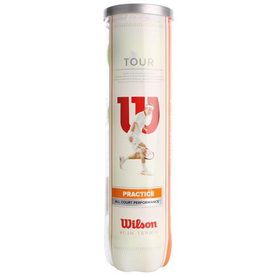 Wilson Tenis Topu Tour Practice 4TBall  (WRT114500 ). ürün görseli