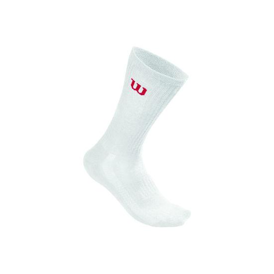 Wilson Erkek Çorap Beyaz Crew 3PR/PK (WRA510700). ürün görseli