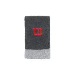 Resim Wilson Bilek Ter Bandı Extra Wide Wristband Gri-Kırmızı (WRA733511)