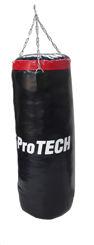 Resim Protech Boks Kum Torbası Siyah 70X25cm ( Zincir & Askı Aparatlı )