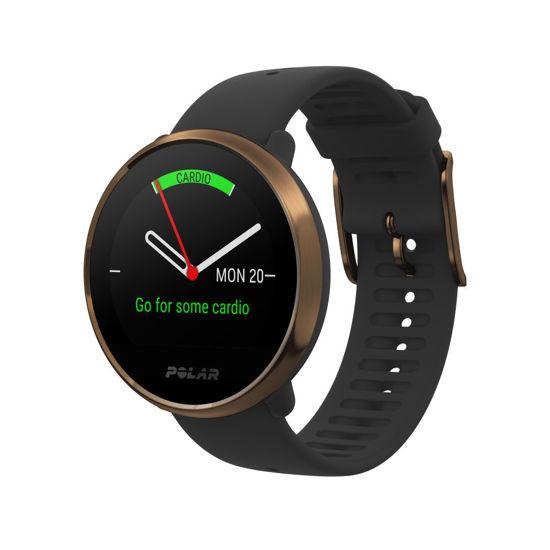 Polar Ignite Gps ve Bilekten Kalp Atış Hızı Ölçüm Özellikli Fitness Saati Siyah/Copper M/L . ürün görseli