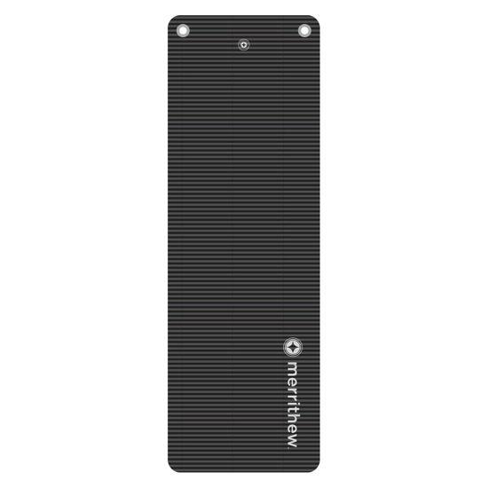 Merrithew Health & Fitness Mat - Deluxe Pilates Mat with Grommets (graphite)  (ST-02188). ürün görseli