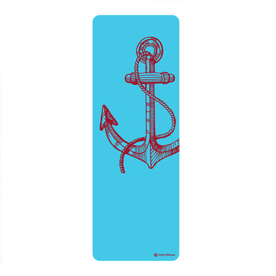 Merrithew Health & Fitness Mat - Pilates & Yoga Mat, Anchor (blue) ST-06276. ürün görseli