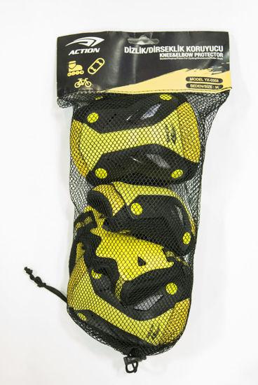 Action Dizlik-Dirseklik Koruyucu Sarı Renk (M Beden 3lü Set). ürün görseli